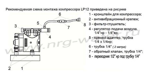 схема подключения компрессора LP12